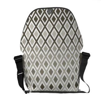 Stylish Taupe Diamond Pattern Messenger Bag
