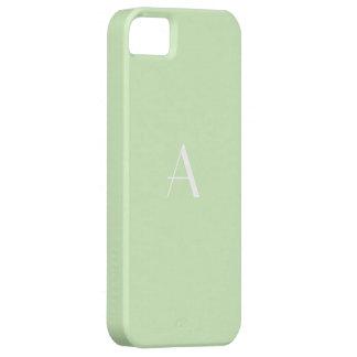 Stylish Tea Green White Monogram iPhone SE/5/5s Case