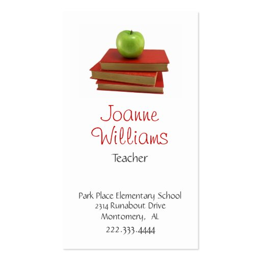 Stylish Teacher Business Card