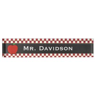 Stylish Teacher's Custom Desk Nameplate