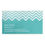 Stylish Teal Green Chevron Stripes Makeup Artist Double-Sided Standard Business Cards (Pack Of 100)