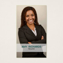 stylish teal Photo Real estate  businesscards Business Card