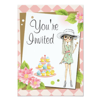 Stylish Teen Girl Birthday Party Invitations