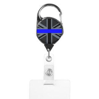 Stylish Thin Blue Line Union Jack Badge Holder