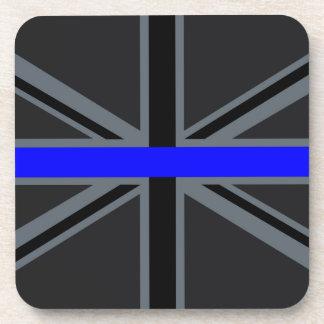 Stylish Thin Blue Line Union Jack Coaster