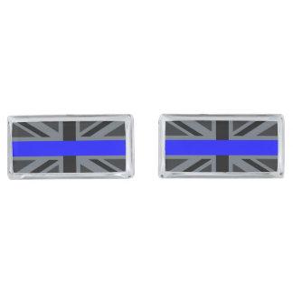 Stylish Thin Blue Line Union Jack Cufflinks