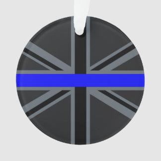 Stylish Thin Blue Line Union Jack Ornament