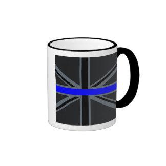 Stylish Thin Blue Line Union Jack Ringer Mug