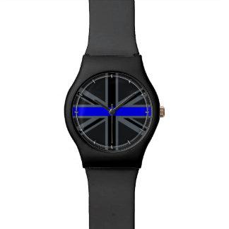 Stylish Thin Blue Line Union Jack Wrist Watches