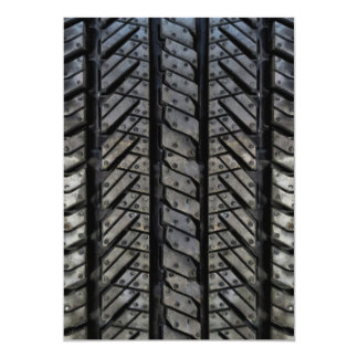 Stylish Tire Rubber Automotive Texture Card