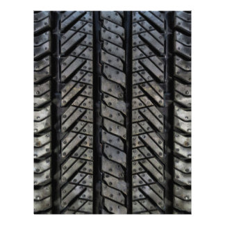 Stylish Tire Rubber Automotive Texture Flyer