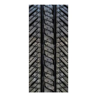 Stylish Tire Rubber Automotive Texture Rack Card