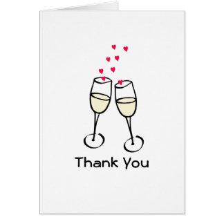 Stylish Toasting Glasses Thank You Card