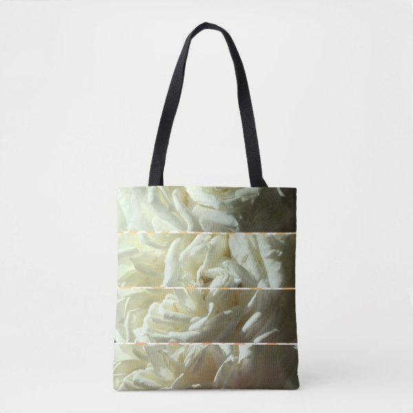 Stylish tote decorated with beautiful roses