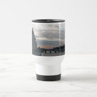 Stylish Travel Mug with beautiful sunset in Paris