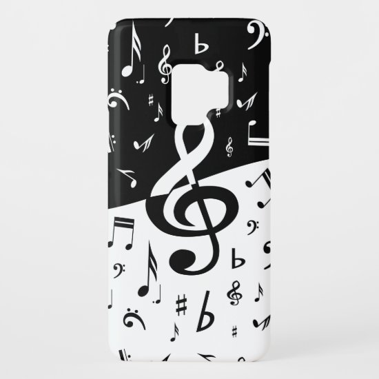 Stylish Treble Clef Wave Black and White Case-Mate Samsung Galaxy S9 Case