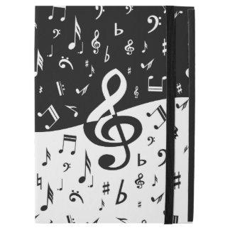 """Stylish Treble Clef Wave Black and White iPad Pro 12.9"""" Case"""