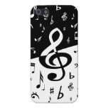 Stylish Treble Clef Wave Black and White iPhone 5 Covers