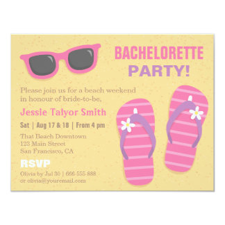 Stylish Trendy Beach Weekend Bachelorette Party Card