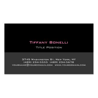 Stylish Trendy Black Grey Professional Modern Business Card