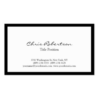 Stylish Trendy Black White Charming Business Card