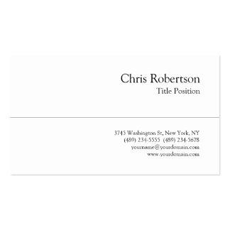 Stylish Trendy Black White Charming Business Card