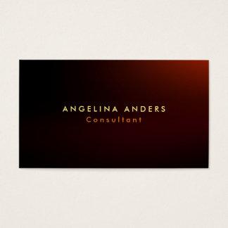 Stylish Trendy Brownish Red Plain Modern Business Card