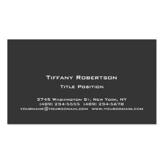 Stylish Trendy Dark Grey Professional Business Card