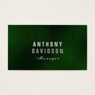 Stylish Trendy Green Huge Letters Business Card