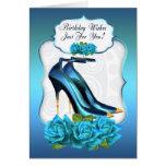 Stylish Trendy High Heel Shoe Birthday Greeting Ca Greeting Cards