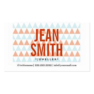 Stylish Triangle Pattern Jewellery Business Card