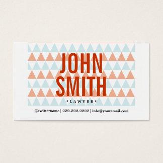 Stylish Triangle Pattern Lawyer Business Card