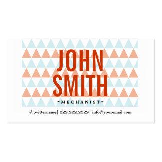 Stylish Triangle Pattern Mechanic Business Card