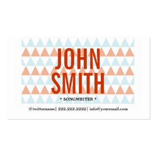Stylish Triangle Pattern Songwriter Business Card