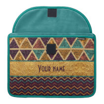 Stylish Triangles and Chevrons Faux Glitter MacBook Pro Sleeve