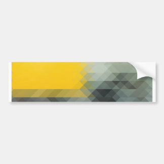 Stylish Triangular Pattern Bumper Sticker