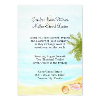 Stylish Tropical Beach Wedding Invitation