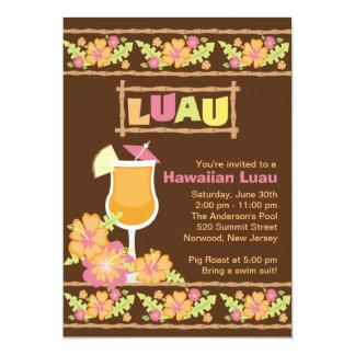 Stylish Tropical Drinks Hawaiian Luau Party Invites