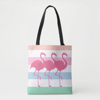 Stylish Tropical Flamingo Tote Bag