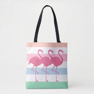 Stylish Tropical Flamingo Tote Bag