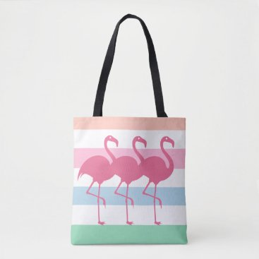 Beach Themed Stylish Tropical Flamingo Tote Bag
