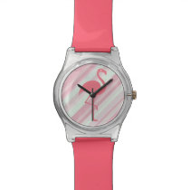 Stylish Tropical Flamingo Wristwatch