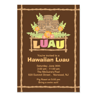 Stylish Tropical Hawaiian Luau Party Invitations