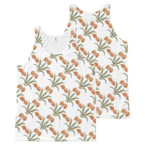 Stylish Tulip Flowers Floral Pattern Summer Design All-Over-Print Tank Top