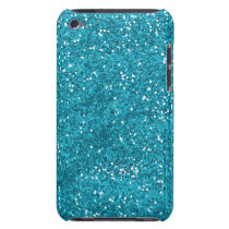 Stylish Turquoise Blue Glitter iPod Touch Case