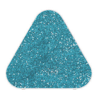 Stylish Turquoise Blue Glitter Speaker