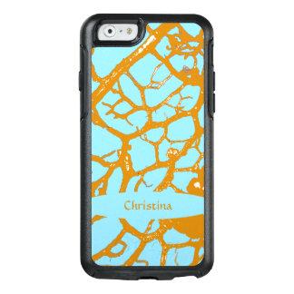 Stylish Turquoise Blue Sunny Yellow Custom OtterBox iPhone 6/6s Case