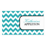 Stylish Turquoise Chevron Business Cards