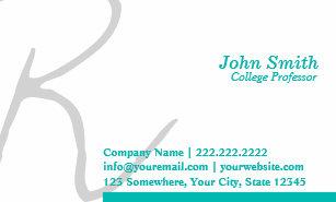 College professor business cards zazzle stylish typography professor business card colourmoves