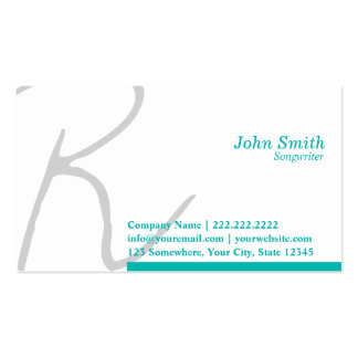 Stylish Typography Songwriter Business Card